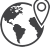 Icon of Earth with a map pin